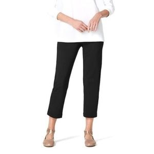 PURE J.JILL Black Slim-Leg Crops Cropped Pants B2